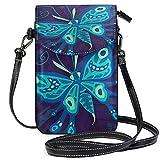 XCNGG Monedero pequeño para teléfono celular Butterfly Cell Phone Purse Wallet for Women Girl Small Crossbody Purse Bags