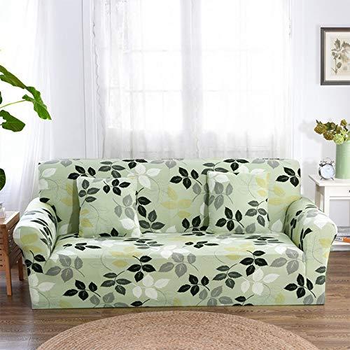 ZWL Stretchy Sectional Hussen Stuhl Sofa Cover für Wohnzimmer Anti Staub Sofa Schutzhülle,Color 22,2-Seater 145-185cm