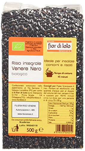 Fior di Loto Riso Integrale Venere Nero - 500 gr