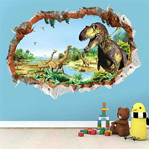 Wall Stickers Murals,3D Vivid Dinosaur Wall Stickers,For Kids Room Bedroom Home Decoration Animal Mural Art,Diy Decal Poster Door Stickers,Wall Stickers For Bedrooms Wall Mural