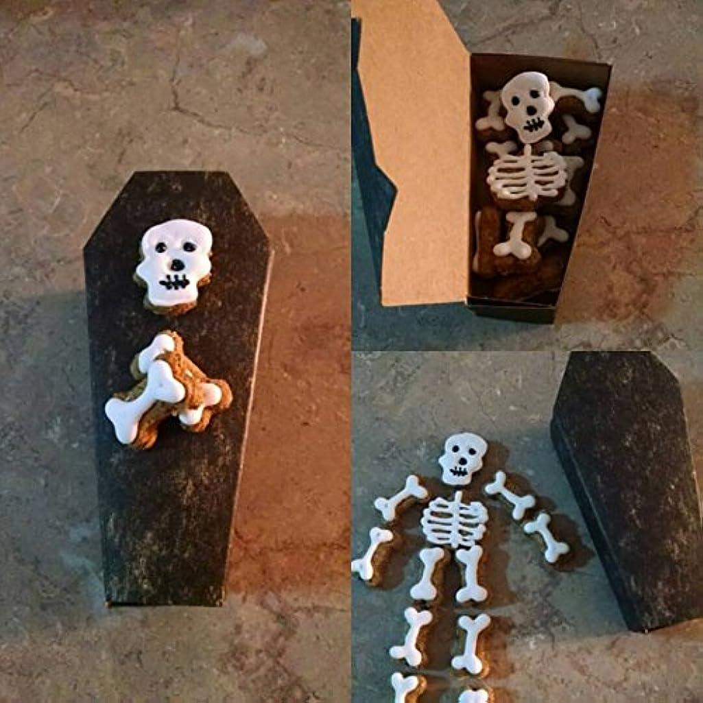 Coffin with skeleton dog treats Halloween