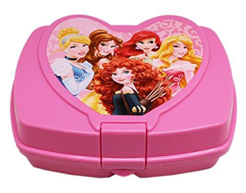 Disney Princess Pink Colored Snap Lock Plastic Sandwich Box