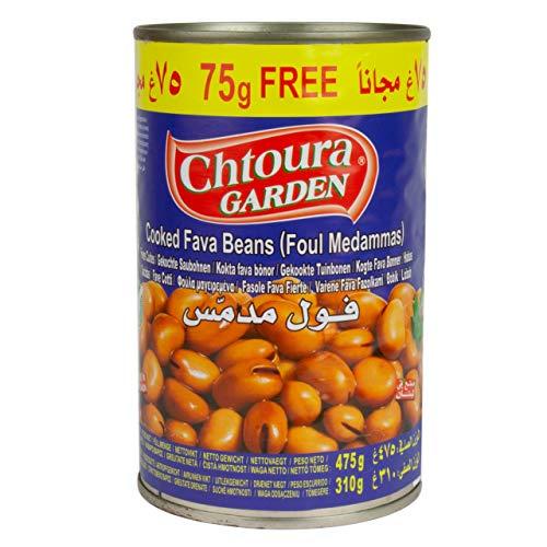 Chtoura Garden - Foul Medammas - gekochte Saubohnen - verzehrfertig in 400 g Dose + 75 g gratis Zugabe (475 g)