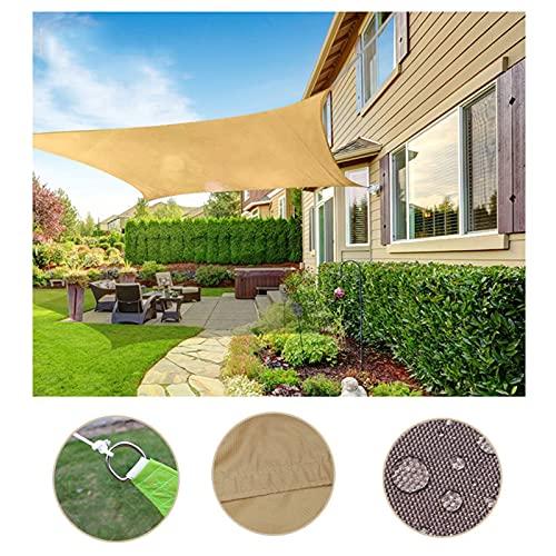 YUDEYU Vela de Sombra Toldos Vela Solar Canopy rectángulo Tela de Oxford Exterior Impermeable Proteccion Solar Anti-UV Red de sombreado Pantalla de privacidad (Color : Beige, Size : 3 x 4m)