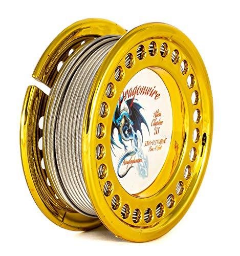 15m Alien Clapton Wickeldraht KA1 FeCrAl, SS316L Edelstahl oder 10m Ni80 Nickelchrome Wire Selbstwickler (15m Alien Clapton SS316L)