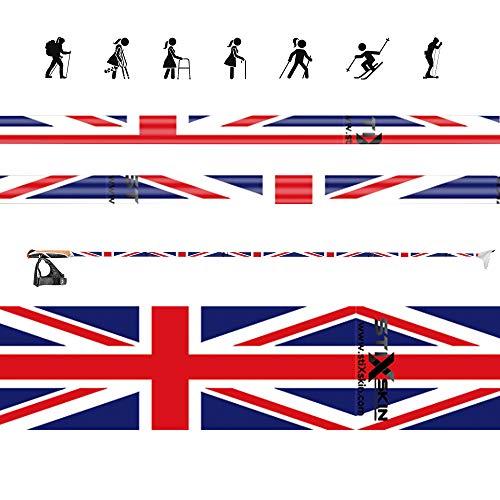 Stixskin 'Union Jack' 2 décoratifs en vinyle Wraps pour marche nordique, randonnée, Trekking, ski et personnalisées, Aid bâton de marche | |Leki, Exel, Gabel, Fizan, Swix |