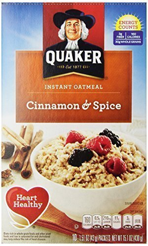 Quaker Instant Oatmeal Cinnamon Spice - 1.51 oz - 10 ct - 2 Pack