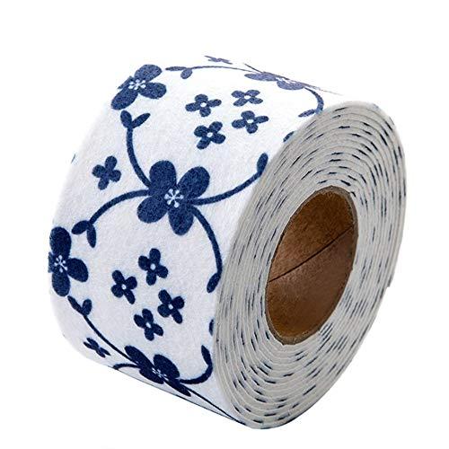 Waterdichte Stickers Hoge Temperatuur Resistant Keramische Tegel voor Keuken Toilet Basis Behang Bescherming - Marineblauw