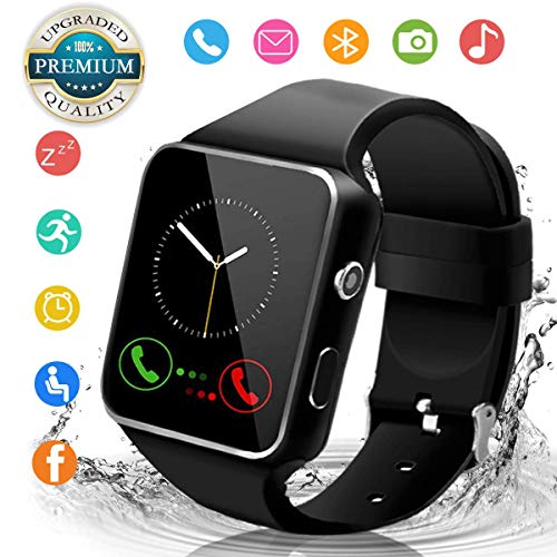 Android Smart Watch for Women Men, 2020 Bluetooth Smartwatch Smart Watches Touchscreen with Camera, Cell Phone Watch with SIM Card Slot Compatible Android iOS Samsung Phone Note Adult
