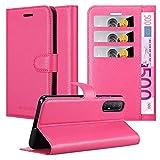 Cadorabo Hülle für Oppo Find X2 neo in Cherry PINK - Handyhülle mit Magnetverschluss, Standfunktion & Kartenfach - Hülle Cover Schutzhülle Etui Tasche Book Klapp Style