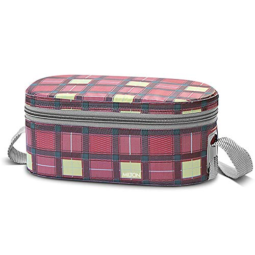 Milton Corporate Lunch 3 Stainless Steel Lunch Box with Jacket, Pink