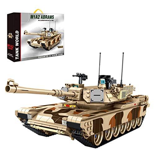 OviTop 1630 Teile M1A2 Tank Panzer, Panzerwagen Waffen Kompatibel mit Lego
