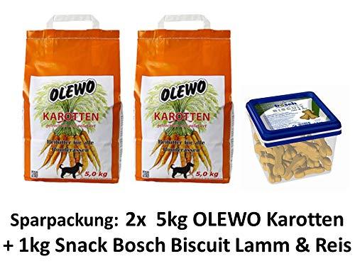 Allco Olewo Karotten-Pellet | 10kg Sparpackung + 1kg Bosch Biscuit Lamm