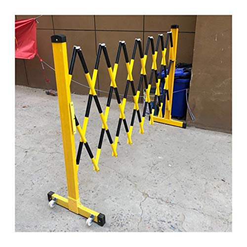 LSXIAO-Decorative Fences Folding Frp Barricade, Portable Road Barriers, Safety Fence, Insulation Easy to Move with Pulley for Elevator Repair, Temporary Road Closure, Construction Barricade