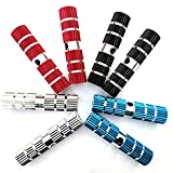 Star-Art 1 Pairs Bike Pedals Axle Foot Rest Pegs Anti-Slip Rear Feet Pedals for BMX Mountain Bike Bicycle Cycling (Blue)