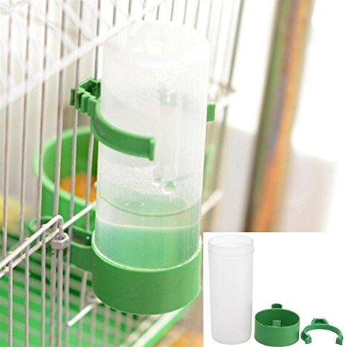Etophigh Trinkbrunnen Kunststoff Vogel Wasser Feeder Automatische Papagei Wasser Fütterung Vogelkäfig Zubehör, 4 STK