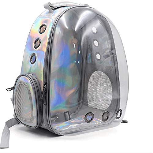 Fuudear Transparente Laser Raumkapsel Haustier Tasche Rucksack tragbare professionelle wasserdichte Outdoor-Reise Licht Haustier Kätzchen Rucksack Katze Hund Universal