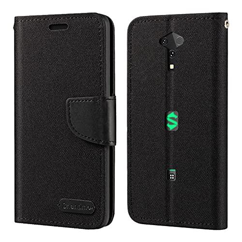 Xiaomi Black Shark 3 Pro Hülle, Oxford Leder Wallet Hülle mit Soft TPU Back Cover Magnet Flip Hülle für Xiaomi Black Shark 3 Pro