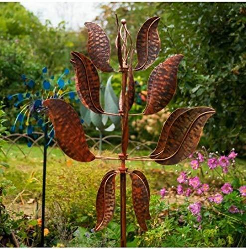 Jonart Designs- Chelsea Wind Beeldhouwkunst, Wind Spinner Gepolijst Goud SP427