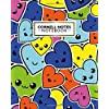 Cornell Notes Notebook: Cute Large Cornell Note Paper Notebook | College Ruled Medium Lined Journal Note Taking System for School and University | Pretty Emoji Hearts Pattern for Kids