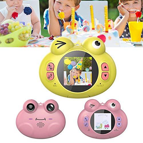 Womdee Fotocamera Digitale per Bambini, Mini Fotocamera Digitale da 2 MP HD, Fotocamera Ricaricabile con Giochi, Regali per Ragazzi e Ragazze Yellow