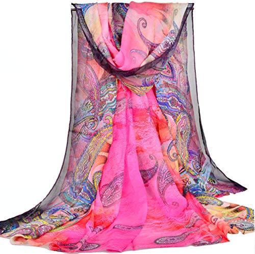 PB-SOAR XXL Damen Paisley Sarong Pareo Strandtuch Wickelrock Wickeltuch Schal Halstuch, weich und leicht (Farbe 2)