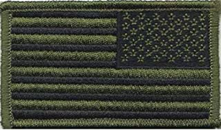 17788 Reversed Subdued U.S. Flag Patch (Olive Drab)