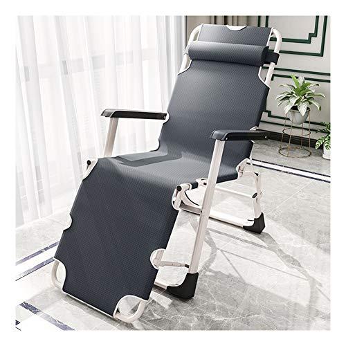 Klappbarer Klappstuhl Liegestuhl, Liege in der Mittagspause Büro Siesta Bett Tragbarer Einzelklappbett Outdoor Strandkorb-Square Tube