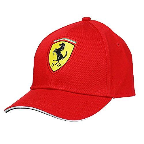 Ferrari Clásica Gorra, Rojo, Junior/Rookies Unisex niños