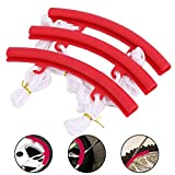 ASOOLL 2021 New Tire Rim Protector Lengthened 3 Piece Set,Two Fixed Points Motorcycle Tire, Off-Road Vehicle, ATV, Bicycle Tire Replacement Tool, Tire Removal Edge Protector(Red)