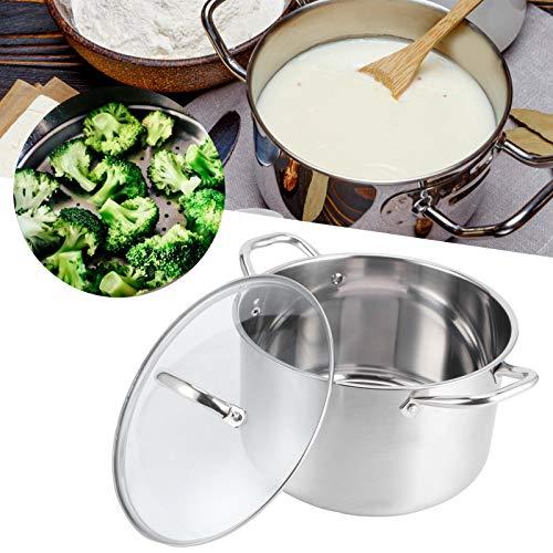 Olla de sopa, olla de acero inoxidable de fácil manejo, resistente y resistente para la cocina casera