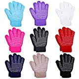 Cooraby 9 Pairs Kids Anti-skid Magic Gloves Winter Warm Stretchy Knit Gloves