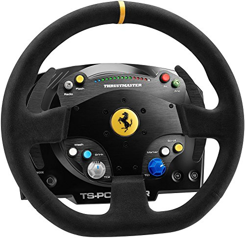 Thrustmaster TS-PC Racer Ferrari 488 Challenge Edition (Stuur, Force Feedback, 270° - 1080°, Led-Snelheidsmeter, Eco-Systeem, Pc), Zwart