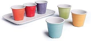 Jeu de 7Brunch Time Tasse à Expresso Multicolore