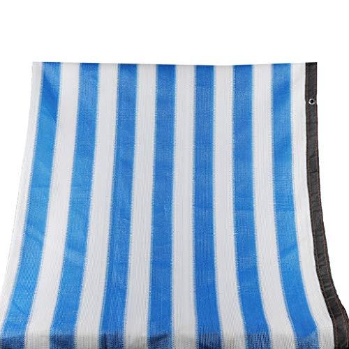 DLT Gewächshaus Sunblock Shade Cover Hundehütte Shade Covers, Top und Side Coverage, Sunblock Shade, gestrickt Schatten Tuch mit Ösen, blau weiß (Size : 4mX8m/13\'x26\')