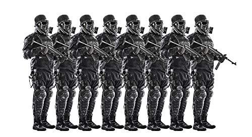 Posterazzi PSTZAB102977MLARGE Line of Futuristic Nazi Soldiers Wearing Gas Masks and Steel Helmets Photo Print, 24 x 36, Multi