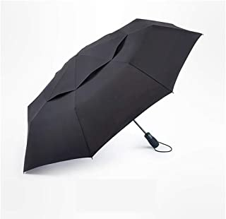 Large Household Umbrellas Men's Automatic Folding Umbrellas Double-Layer Wind-Resistant Reinforced Umbrellas Business Automatic Umbrellas Ztoyby