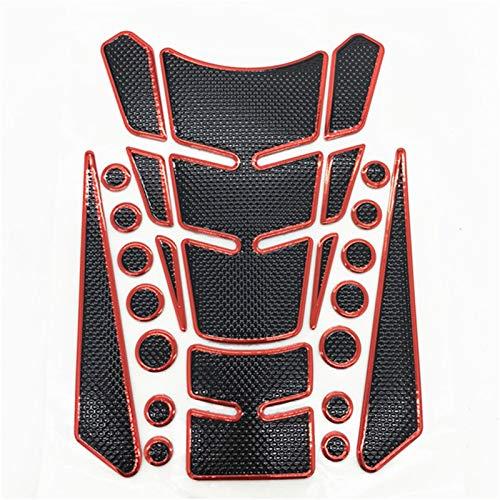 DAMOTUO Etiqueta de Gas de Gas de Gas de Combustible 3D calcomanías de Accesorios de Motocicleta Piezas para Honda CB650F CB500X CB400 CB1000R CBR600RR CR 250 CR125 (Color : Red)