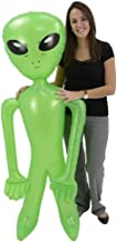 Giant Jumbo Green Alien Inflate Party Favor (1)