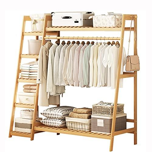 LLLD Perchero Burro Independiente Perchero De Bambú Perchero Varillas Estante Ropa Dormitorio Multifuncional Muy Adecuado para Dormitorio Sala Estar Oficina (Size : 130 * 42 * 140cm)