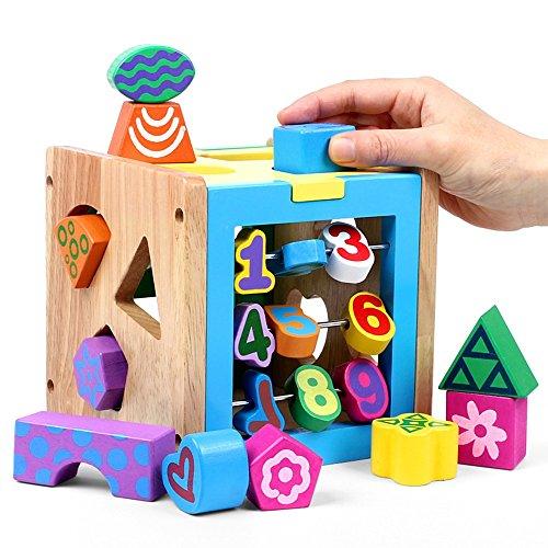 Jouets FEI éducatifs, Forme tridimensionnelle de Children of Cognitive Toys, numériques Intelligence Early Education, Apprentissage cognitif en Bois (1-3 Ans) Correspondants Début Éducation