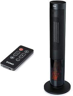 Domo DO7345H Calefactor eléctrico Interior Negro 2000 W DO7345H, Cerámico, 24 h, Interior, Piso, Negro, LED