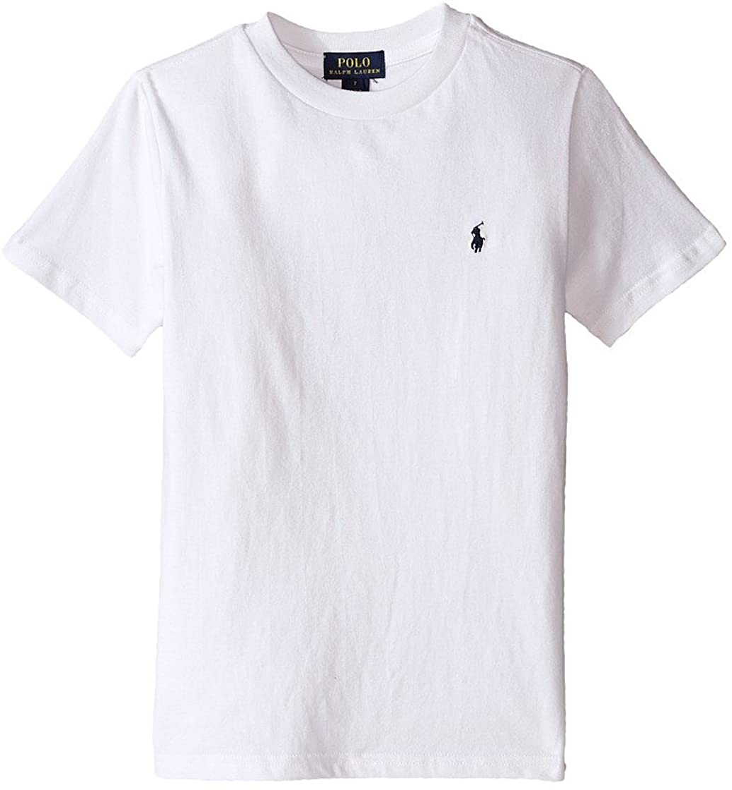 Polo Ralph Lauren Kid's Crew Neck White Tee Big Little Sale SALE% OFF Under blast sales Kids