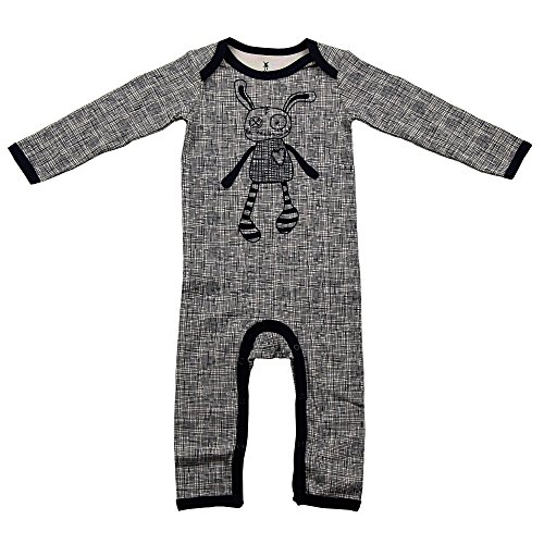 Small Rags Unisex Langarm Baby- und Kinder Schlafanzug, 100% Baumwolle, Beige-Dunkelblau, Gr.50, Fly Playsuit Pale Mauve, 60548 03-61