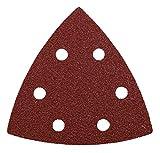 kwb Quick-Stick Schleif-Dreiecke – für Delta-Schleifer, K 120, 93 mm, Edelkorund, für Holz und Metall, gelocht mit Klett (20 Stk. - Profi-Sparpack)