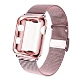 KOUUNN Compatible for Apple Watch Band 38mm 40mm 42mm 44mm with Screen Protector