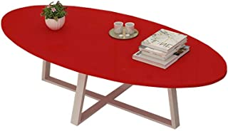 WEHOLY Table Basse de Balcon Ovale Multifonction Table de Salle à Manger/Bureau/Bois Massif/Métal/Salon/Salle à Manger/Cha...