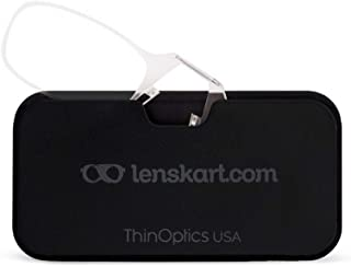 ThinOptics Go-Reader Glasses With Case Non-Power Reading Clear (ONLY FOR +2.00 Power) Eyeglasses