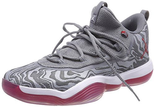 Nike Jordan Super.fly 2017 Low, Men's Basketball Shoes, Multicolour (Wolf Grey / Gym Red Co 004), 8 UK (42.5 EU)