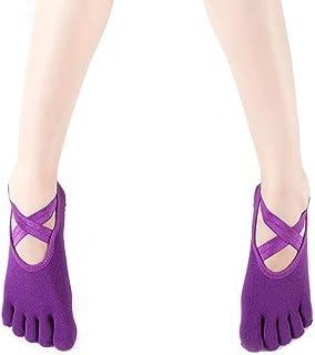 Dance Movement Five Fingers Socks Anti-Skid Cross Apply to Female Yoga Socks,Fully Breathable
